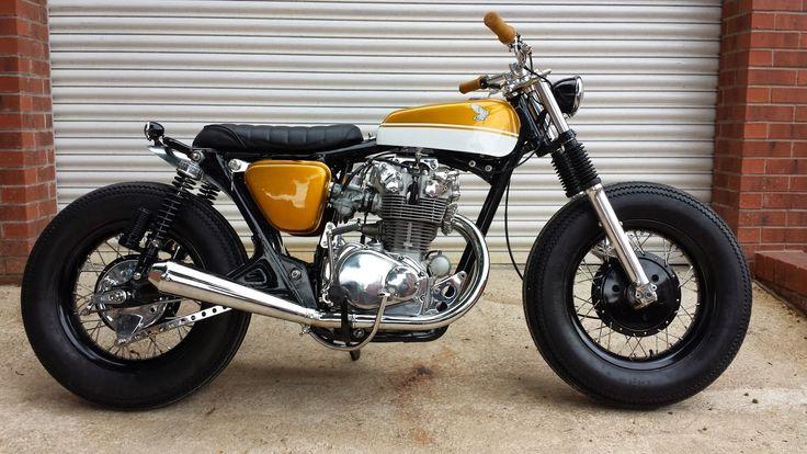 yamaha 125 dirt bike 2013 Big wheels // Honda CB 450 Brat Style