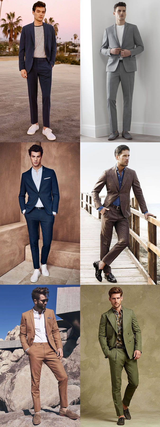 Men's Lightweight Summer Suits Outfit/Styling Inspiration Lookbook http://www.99wtf.net/young-style/urban-style/what-is-urban-fashion/