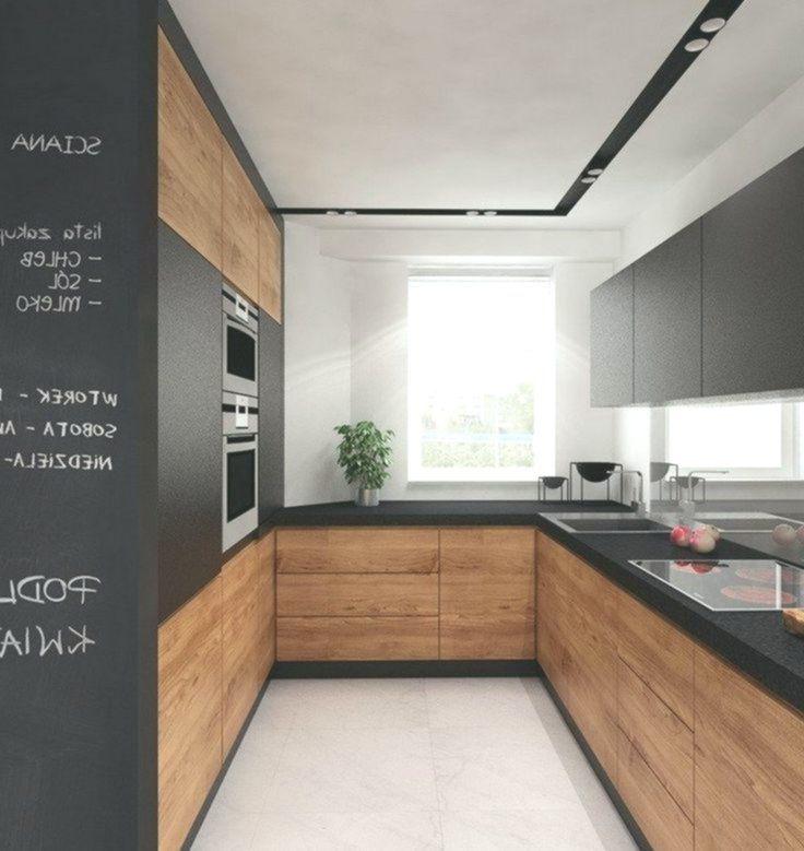 Kuche In U Form In Schwarz Und Mitteldunklem Holz Ahnliche Tolle Projekte Und Lati200 White Wood Kitchens Rustic Farmhouse Kitchen Kitchen Cabinet Design