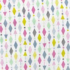 Tissu double gaze de coton Cosmo - multi pastel x 10 cm