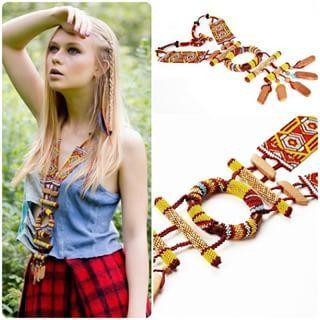 ethnic style #beads #handmade #necklace #jewelry #ethnic #look #girl #style #shop #design #beautiful #бисер #ручнаяработа #ожерелье #избисера #этника #этнический #индейский #девушка #лук #дизайнерскиевещи #дизайн #продается #назаказ #магазин