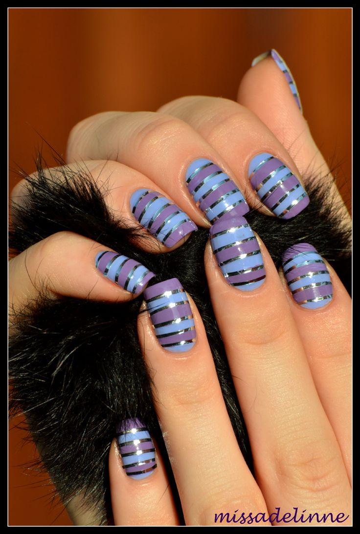 90 best Nails stripes and nail tape images on Pinterest | Manicures ...