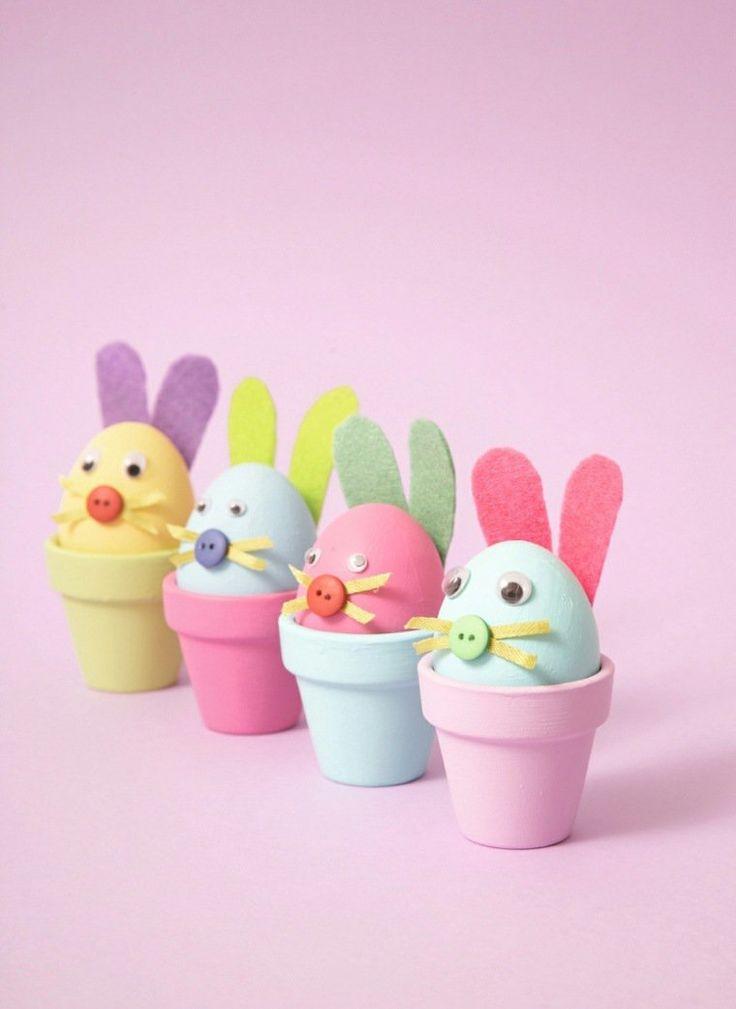 activité manuelle pour Pâques avec des oeufs
