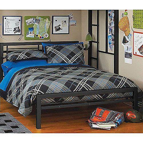 Black Full Size Metal Bed Platform Frame, Great Addition To Any Kids Or Boys  Bedroom  Boys Bedroom Sets