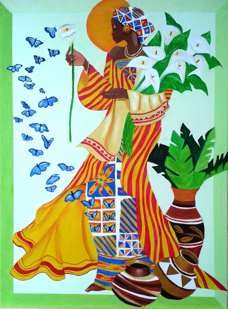 Soledad Dellepiane Mujer africana - óleo sobre tela 50 x 70 (Réplica)... Primer cuadro de Soledad, ¡¡felicitaciones!! el próximo será un Original...