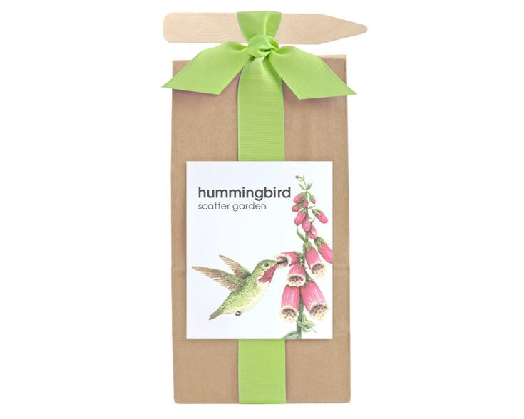 Hummingbird Habitat Scatter Garden – Garden –  Gift Package – Holiday – Teacher Gift – Hostess Gift – Outdoor Plant – Seed Grow Kit by PottingShedCreations on Etsy https://www.etsy.com/listing/271462647/hummingbird-habitat-scatter-garden