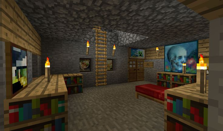 Minecraft room ideas pocket edition minecraft for Minecraft lounge ideas