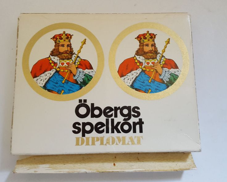Vintage Playing Cards Swedish Obergs spelkort diplomat, 2 decks with makers mark