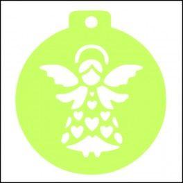 Categoría: Stencils Para Galletas - Producto: Stencil Para Galletas 7Cm-Angelito-C042 - Envase: Unidad - Presentación: X Unid.