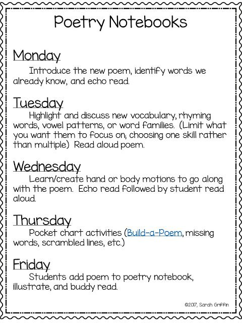 Poetry Notebooks | FREE printable