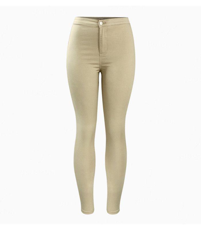 Women`s Hot Curvy High Waist Stretchy Khaki Jean Pants Skinny Pencil Woman Jeans Femme