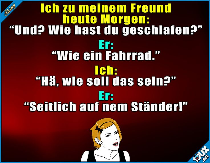 Wie ein Fahrrad? #Wortspiel #Sprüche #Humor #Witze #lustigeMemes #Memes #Statussprüche
