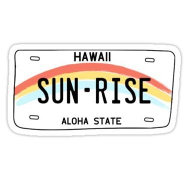 Hawaii License Plate Aesthetic Wallpaper