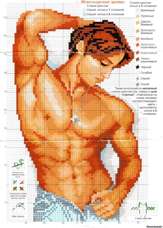 Well, I was wanting more cross stitches of men...