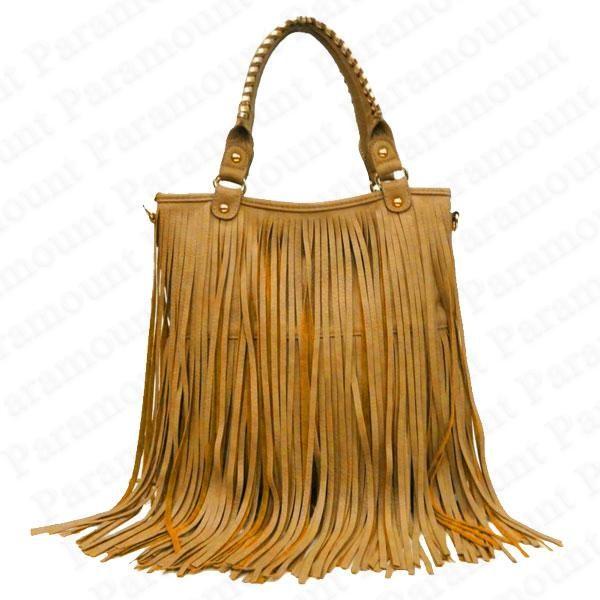 designer Leather Fringe Purse   ... about Double Tassel Boho Designer Fringe Shoulder Bag Womens Tote