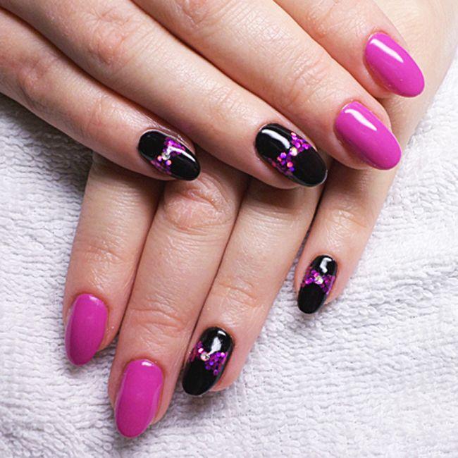 Produkty NeoNail użyte do stylizacji to: Żel kolorowy (plum 3685)
