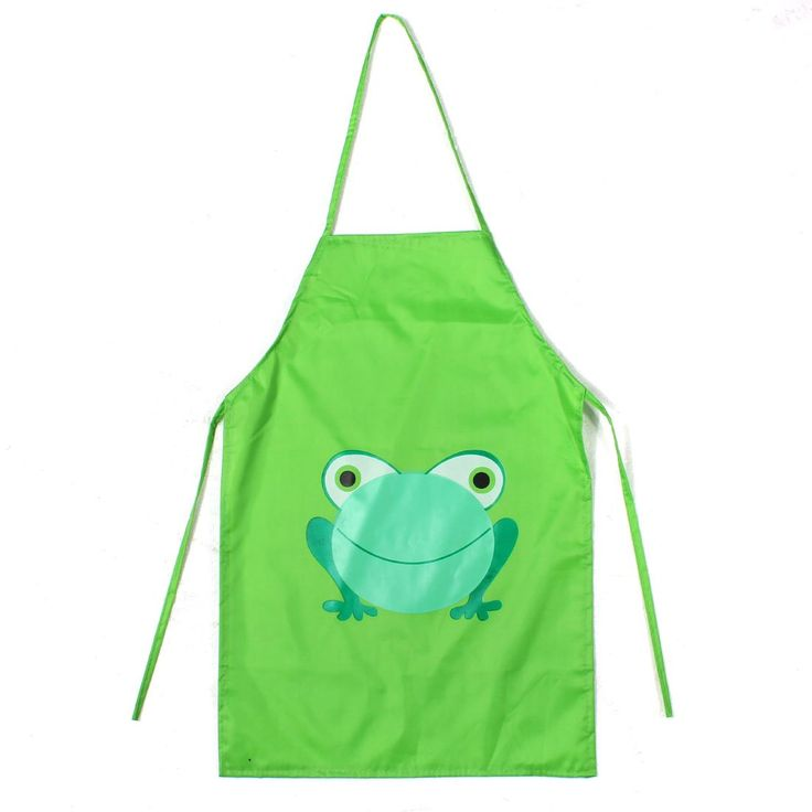 Boutique  2 pcs Kid's Cartoon Waterproof Apron Green