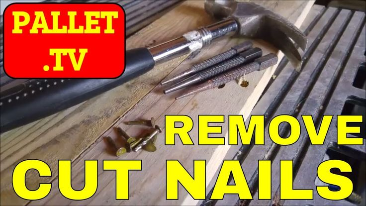Pallet projects always need pallet wood. And one popular way to get pallet wood is to cut the nails with a reciprocating saw. But that leaves cut nails in th...