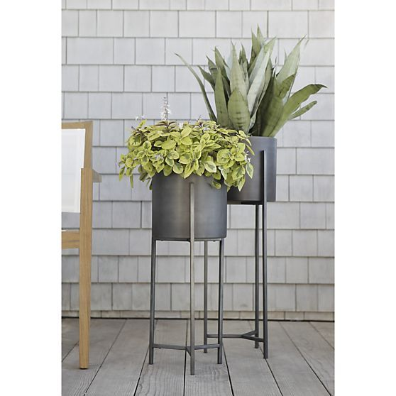 dundee floor planters planters decks and crate and barrel. Black Bedroom Furniture Sets. Home Design Ideas