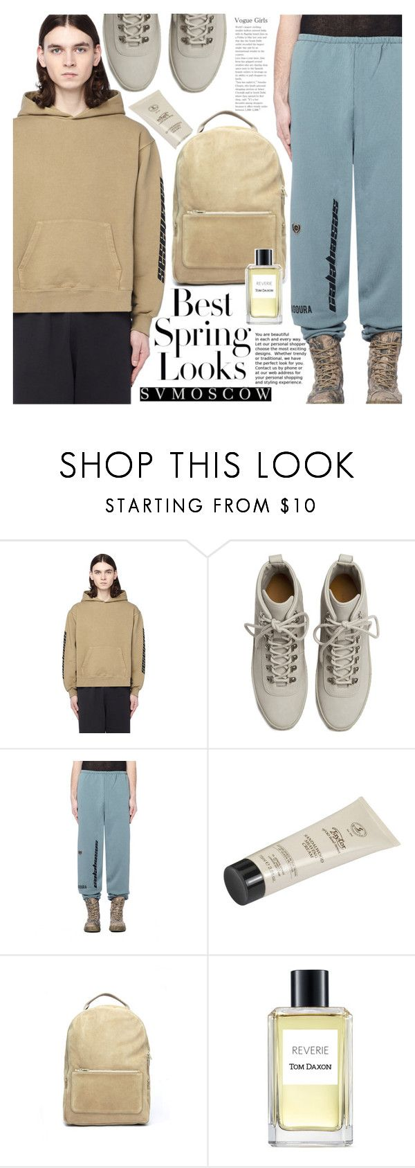 """YEEZY"" by vanjazivadinovic ❤ liked on Polyvore featuring Yeezy by Kanye West, Fear of God, Taylor of Old Bond Street, H&M, Tom Daxon and svmoscow"