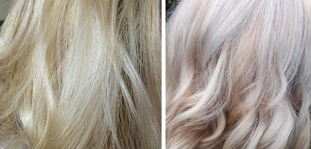 Before And After Using Evo S Fabuloso Platinum Blonde