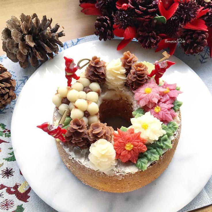 2017.11.24 sweet bean paste *flower chiffon cake* ・ あんシフォンで おはようございます ・ シフォンケーキにクリスマスイメージのあんデコレーション🎄 松ぼっくり、コットン、ポインセチア… ・ 天然色素を使っているので 鮮やかな赤はなかなか出ないけれど 柔らかい優しい雰囲気のケーキができました♡ シフォンは焙じ茶のシフォン 餡子の甘みと合うんですよね〜♪ ・ 12月の1DAYレッスンとなります 詳細はブログにアップしました(*ˊᵕˋ*)੭ ・ ・ #あんフラワー #シフォンケーキ #シフォン倶楽部 #あんこ #天然色素 #wp_deli_ハッピーカラフルクリスマス #手作りケーキ #お菓子作り #フラワーケーキ #クッキングラム #パティシエカメラ部 #コッタ #おうちごはん #パティシエカメラ部教室 #pcc201712Xmasと新年のHappyスイーツ #flowercake #beanpaste #foodpic #foodstagram #homemadecake #onthetable…