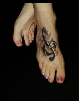 #music #Tattoo #Foot #Feet