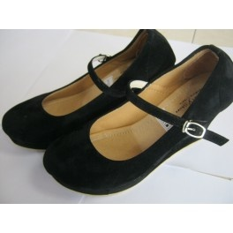 wedges hitam casual