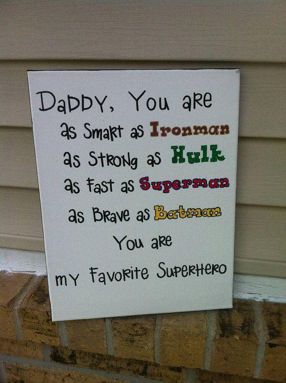 Papa is mijn superheld teken van OverwhelmedByLove op Etsy