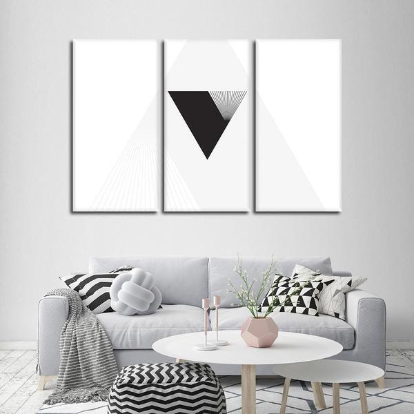 Minimal Triangle Multi Panel Canvas Wall Art Wall Canvas Canvas Wall Art Geometric Wall Art