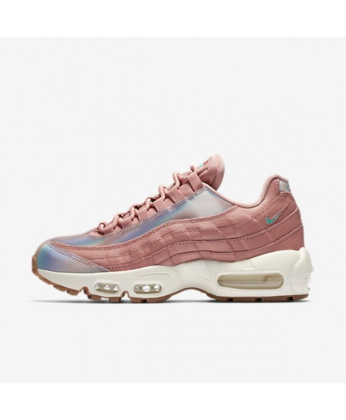 buy online 7cb1b e8f35 Nike Air Max 95 Womens Se Red Stardust Sail Gum Medium Brown Washed Teal  Shoes Outlet