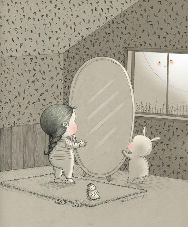 """Coniglio, """"In this Mirror"""".  It looks a bit like my bedroom. ^_^"""