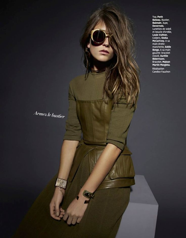 Louis Vuitton Sunglasses and Earring | sortez du rang: marlena szoka by bruna kazinoti for grazia france 17th october 2014
