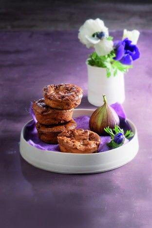 Muffins aux figues et à la ricotta - Larousse Cuisine