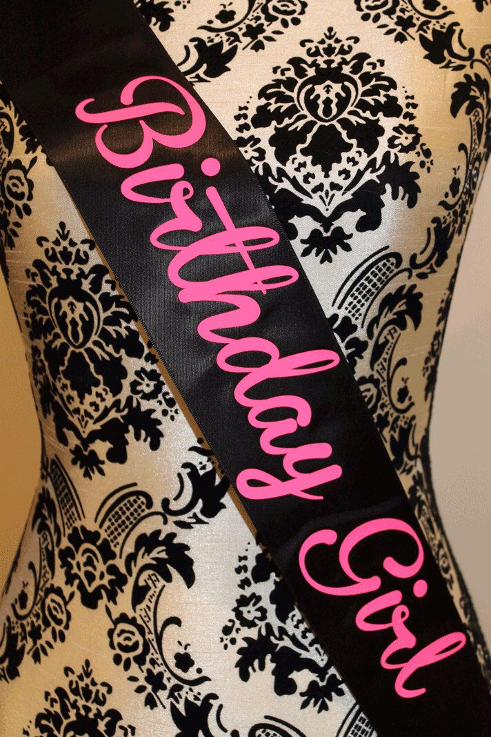 birthday party sash, birthday sash, birthday girl sash, neon pink by myeverydayparty on Etsy https://www.etsy.com/listing/168624873/birthday-party-sash-birthday-sash