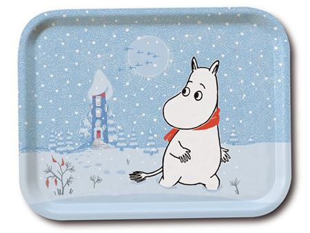 Tove Jansson Christmas-themed Moomin trays by Opto design