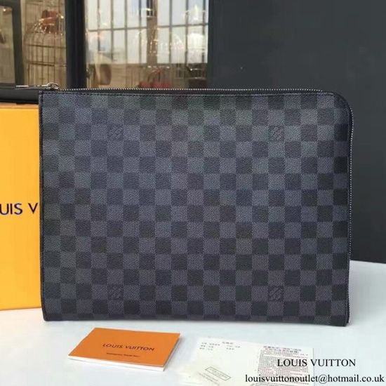 a725ffe7 Louis Vuitton N41501 Pochette Jour GM Damier Graphite Canvas | Louis ...