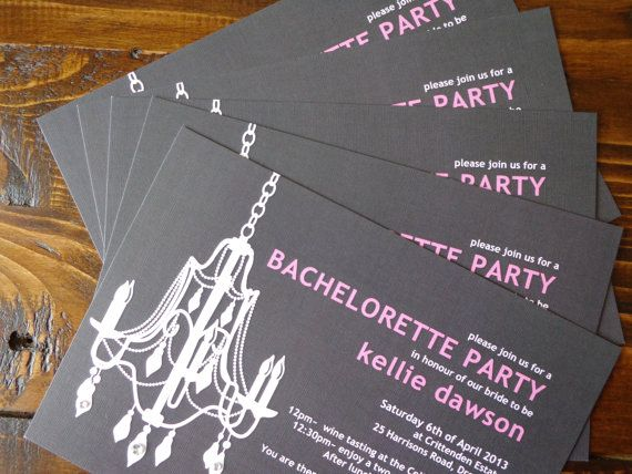 Bachelorette Party Invitation Chandelier Digital by CreateTheDate, $8.50