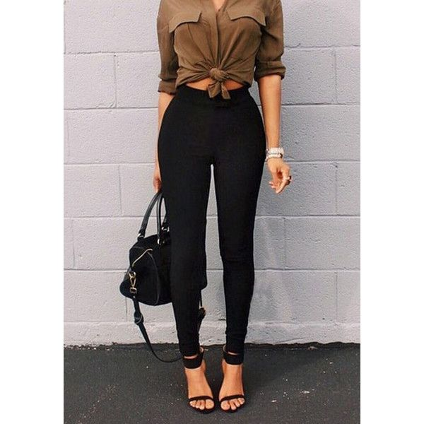 Best 20  High waisted black trousers ideas on Pinterest | Trousers ...