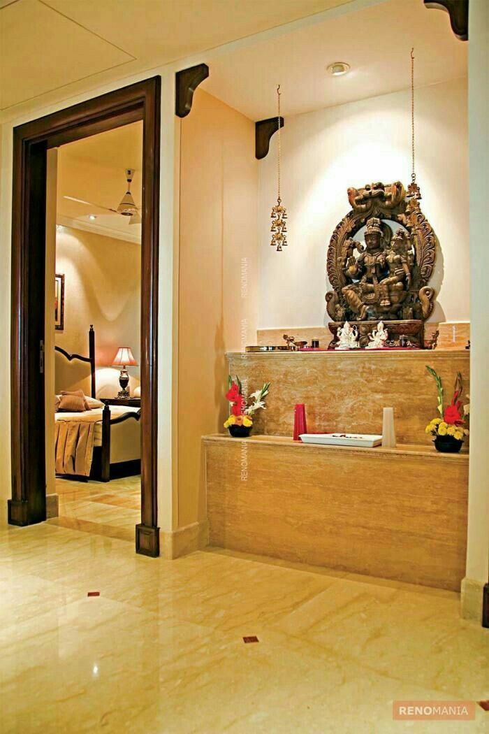 ... 50 Best Interiors Mandir Outlook Images On Pinterest Hindus   Indian  Home Temple Design Idea ...