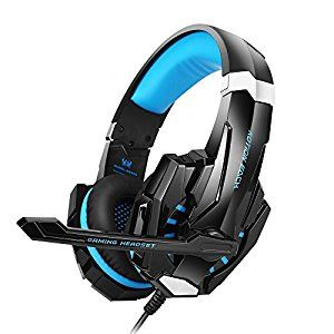 Amazon.com: BENGOO G9000 Stereo Gaming Headset for PS4 PC Xbox One Controller Noise Cancelling Over Ear Headphones with Mic LED Light Bass Surround Soft Memory Earmuffs for Laptop Mac Nintendo Switch Games: Computers & Accessories