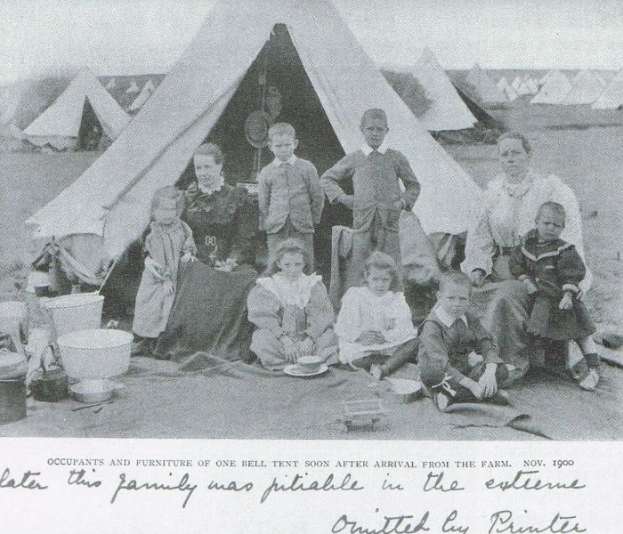 Boer War -- Boer family in a British concentration camp