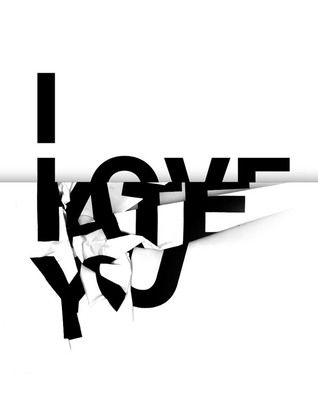 I love you / I hate you – monochrome poster design in black and white with big letters | typography / graphic design inspiration by Mon7 @ tumblr |