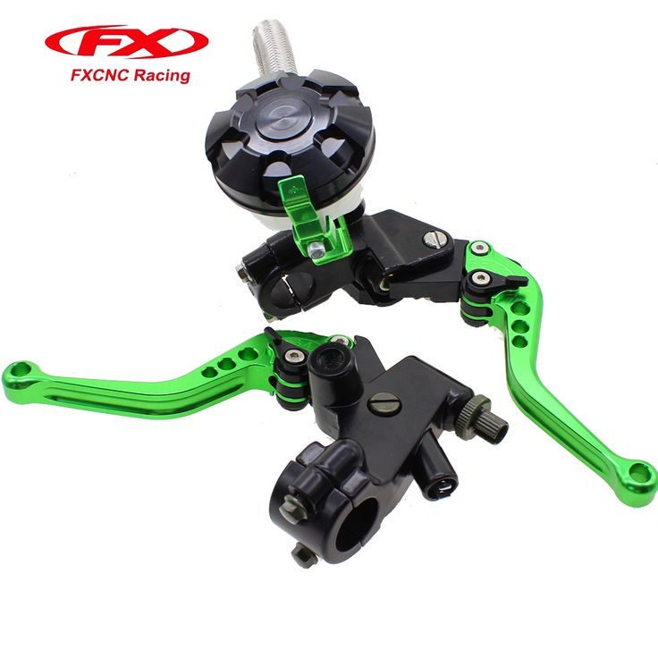 FX CNC Hydraulic Brake Cable Clutch Green Set For YAMAHA Honda KTM KAWASAKI BMW 125-400CC Motorcycle Levers