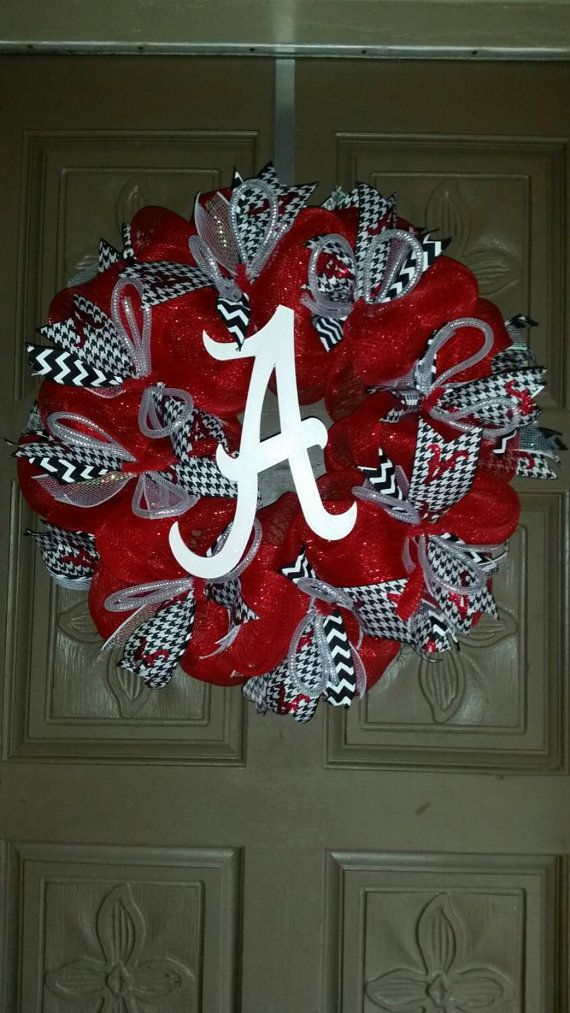 Alabama Crimson Tide deco mesh wreath by AudrasSouthernFlair