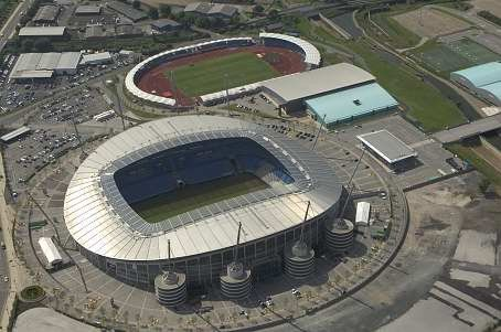 (Soccer) Etihad Stadium/City of Manchester Stadium - home of Manchester City, from above