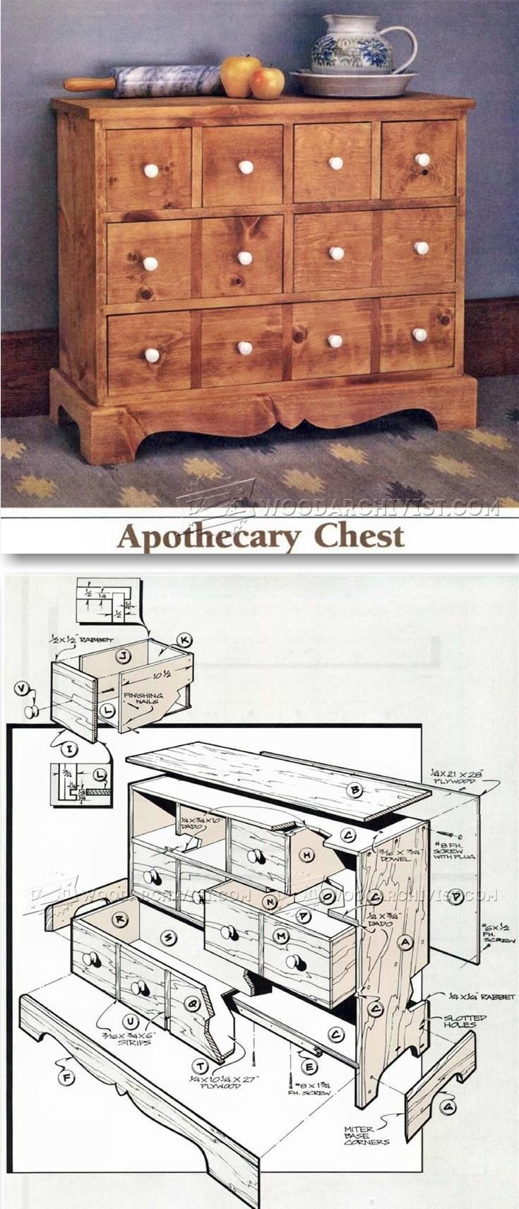 Apothecary Chest Plans - Furniture Plans and Projects   WoodArchivist.com