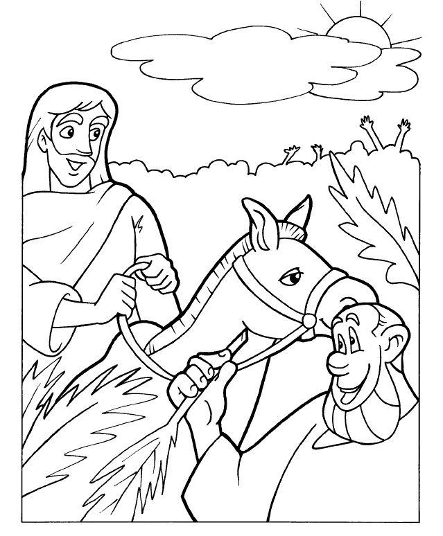 Hermosa Historia De La Biblia Para Colorear Palm Sunday ...