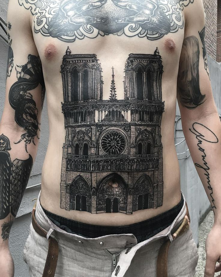 1806 best tattoos images on pinterest flower tattoos for Notre dame tattoo