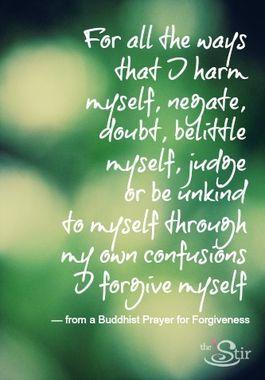 Love this Buddhist Prayer for Forgiveness